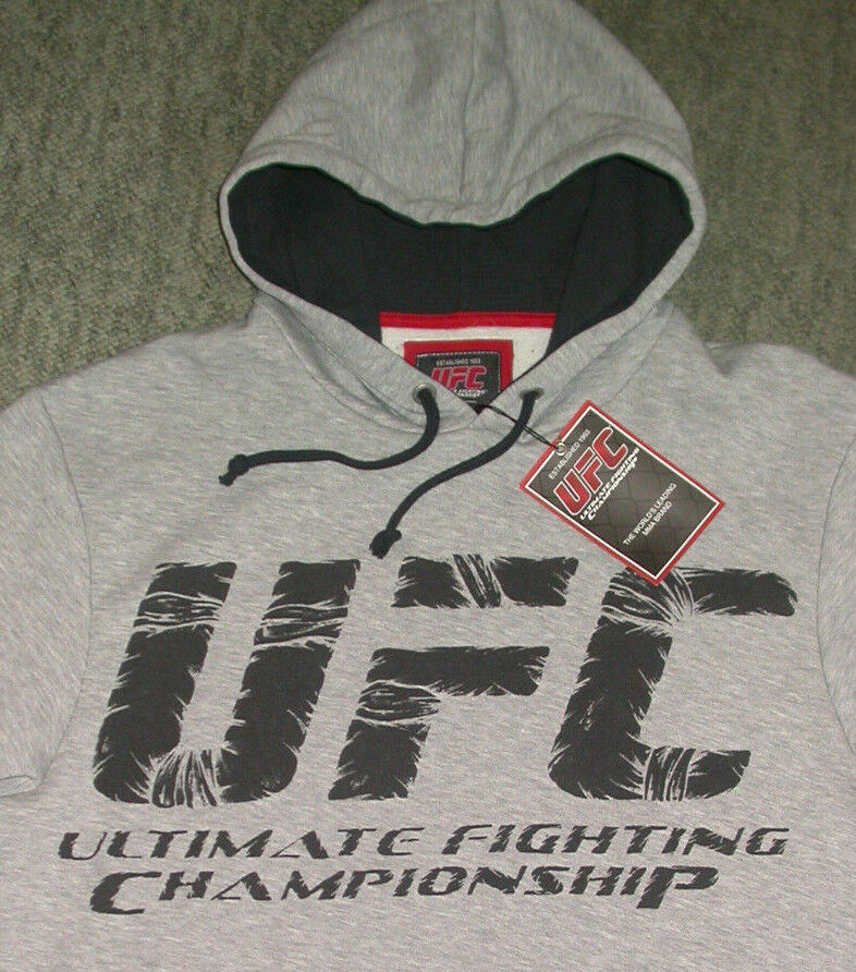 UFC HOODED SWEATSHIRT LARGE L MMA JIU JITSU BOXING GYM MUAY THAI CROSSFIT K1 NEW