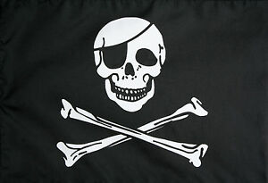 SKULL-amp-CROSSBONES-BLACK-amp-WHITE-PIRATES-FLAG-5-x-3-FT-LARGE-FLAG-POLYESTER-NEW