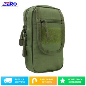 Green Large Utility Pouch Heavy Duty PVC MOLLE PALS Tactical Gear Zippered Gear
