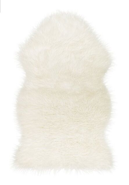 IKEA Faux White Sheepskin Rug New Super Warm Soft & Cozy