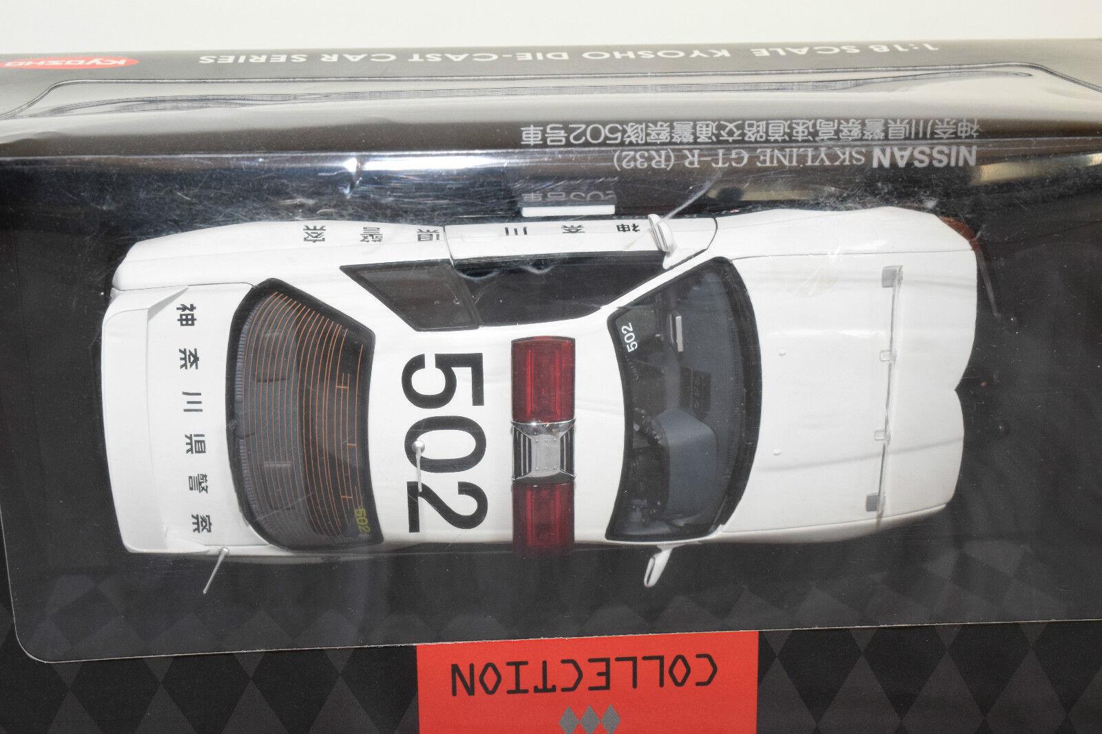 KYOSHO NISSAN NISSAN NISSAN cieloLINE GT-R r32 polizia auto  502 GIAPPONE MINT scatolaED RARE RARO a447ef