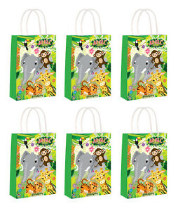 Jungle-Animals-Party-Bags-x-6-Loot-Bags-Girls-Boys-Birthday-Favour-Children-Fun