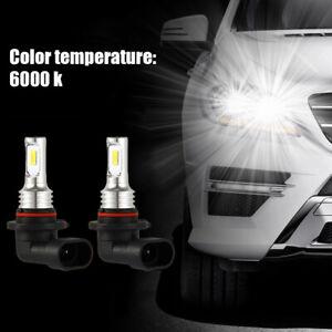 2x-9005-HB3-ampoules-phares-voiture-LED-faisceau-lumiere-35W-4000LM-6000K-blanc