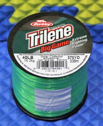 Berkley Trilene Big Game Solar Collector Green 1//4 LB Spools CHOOSE YOUR WEIGHT