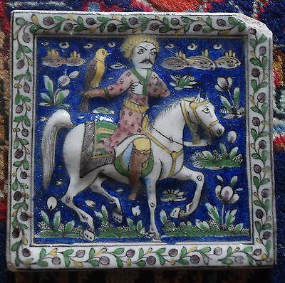 Carreau en céramique Qajar - Perse - Iran - Qadjar tile, ceramic, Persian