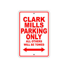 Clark Mills Parking Only Boat Ship Art Notice Decor Novelty Aluminum Metal Sign