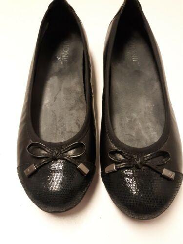 Vionic Womens Black Minna Ballet Flats, Size 8