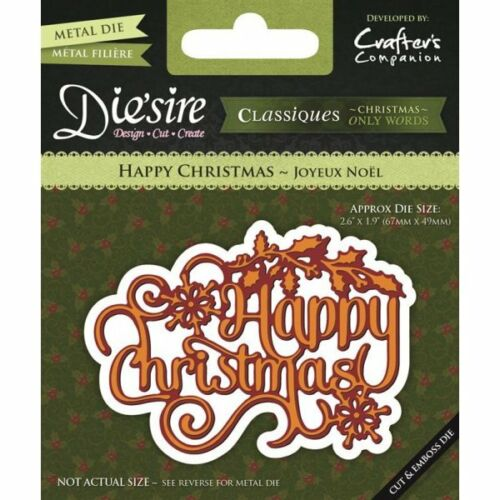 Crafters Companion Die/'sire Classiques Die Christmas Only Words