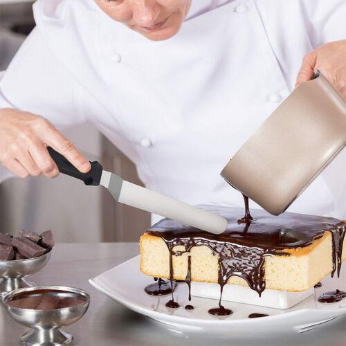 3Set Edelstahl Tortenmesser Kuchen Backen Schneider Butter Sahne Flache Spachtel