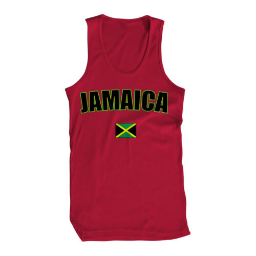 One People Rasta Flag  Mens Tank Top Jamaica Caribbean Out of Many