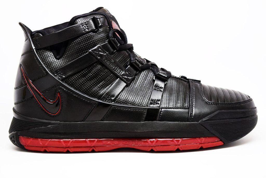 2006 Nike Zoom Lebron James III 3 OG SZ 9 Black Crimson Red BRED 312147-004