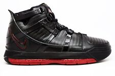 huge discount 6b586 95eb7 2006 Nike Zoom Lebron James III 3 OG SZ 9 Black Crimson Red BRED 312147-
