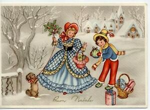 Lovely Dressed Xmas Childrens Complete set of 6 postcards PC Circa 1940 Italy - Italia - Lovely Dressed Xmas Childrens Complete set of 6 postcards PC Circa 1940 Italy - Italia