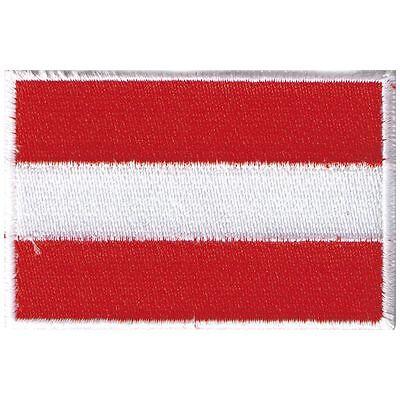 (20443) Aufnäher Applikation 8 x 5,5 cm Stick-Emblem Flagge ☆ ÖSTERREICH ☆