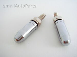 Details about 2 Chrome BULLET TIP License Plate Frame BOLTS Screw Caps for  motorcycle/chopper