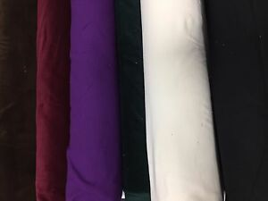 Premium Quality Rayon And Cotton Velvet Fabric Plain Upholstery Curtains