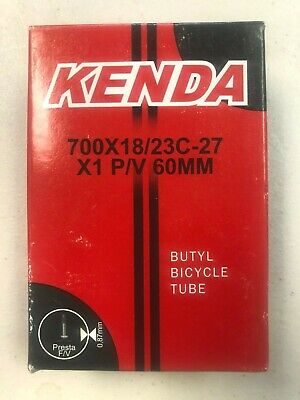 New Kenda Road Bicycle Bike Inner Tube 700 x 18//23C Presta PV 32mm
