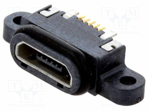 207G-BD00 Socket-USB B micro-SMT-PIN:5 avec sceau-V USB 2.0 IPX7