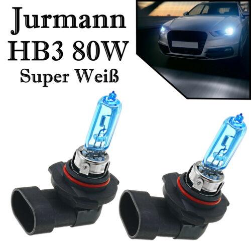 2x Jurmann Super Weiß HB3 80W 12V Fernlicht Abblendlicht Halogen Ersatz Birne