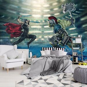 Wall mural wallpaper for children d bedroom Thor Ragnarog Marvel ... 2d8a658946