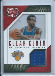 2014-15-Totally-Certified-Clear-Cloth-Jerseys-Red-Amar-039-e-Stoudemire-299-Knicks