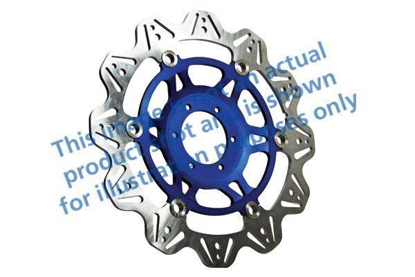 Para Honda CBR 400 Rrl / Rrn / Rrr (NC29 90>94 EBC VR Freno Disco Azul Hub Right