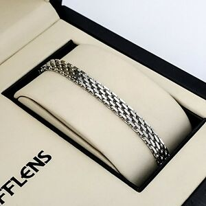 Men-039-s-Women-039-s-Bracelet-Chain-Stainless-Steel-8-6-034-Link-Fashion-Jewelry-Hot