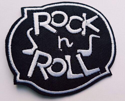 Rock N Roll Iron On Patch Sew On Transfer Biker patch