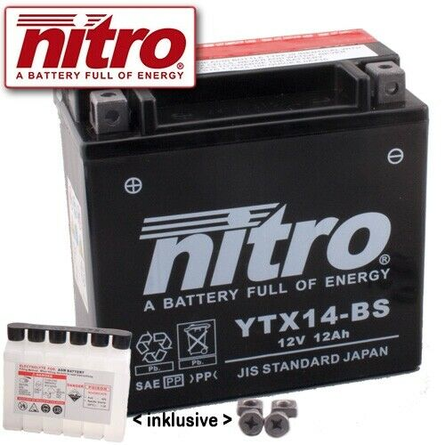 BATTERIA gt650 HYOSUNG NAKED GT anno 2006 NITRO ytx14-bs