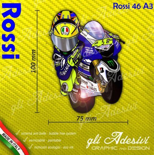 Adhésif Moto Mascotte Caricature Stickers Rossi Carene Casque 10 X 7 CM