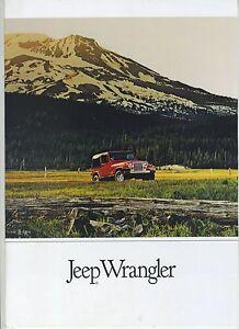 (94) Brochure JEEP WRANGLER