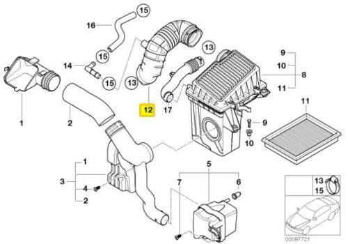 Originale Mini R50 R52 Bocchetta Ingresso Filtro Aria Custodia a Acceleratore