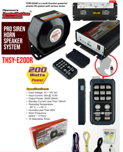Pipeman THSY-E20R Multi Function PA and Police EMS Style Siren and Speaker Kit