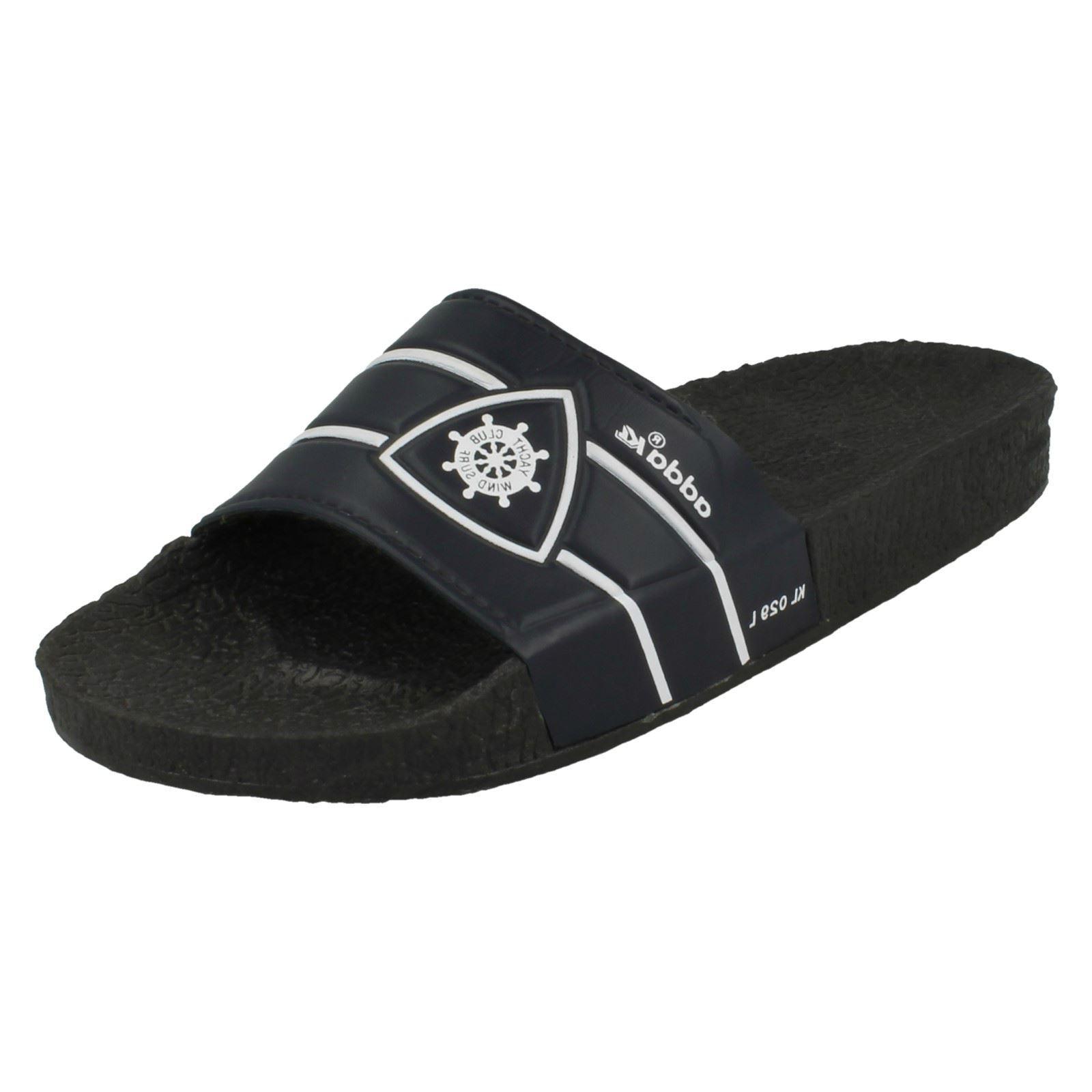 Mens Navy / Adda Slip On Sandals / Navy Mules KL029 36a03f