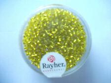 Rayher Rocailles mit Silbereinzug 17 gramm 2 mm gelb Bastelperlen