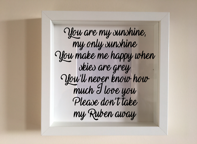 IKEA RIBBA Vinyl Decal Sticker Wall art Quote Love is personalised names