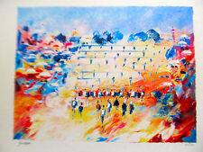 Israeli Art Judaica Ben Avram Western Wall Lithograph Signed Numbered COA AMD