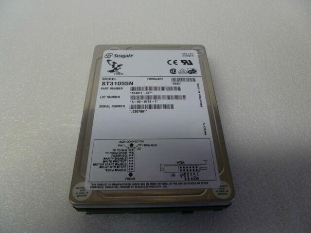 "Seagate HAWK ST31230N 3.5/""  50 Pin 1.05GB SCSI HDD"