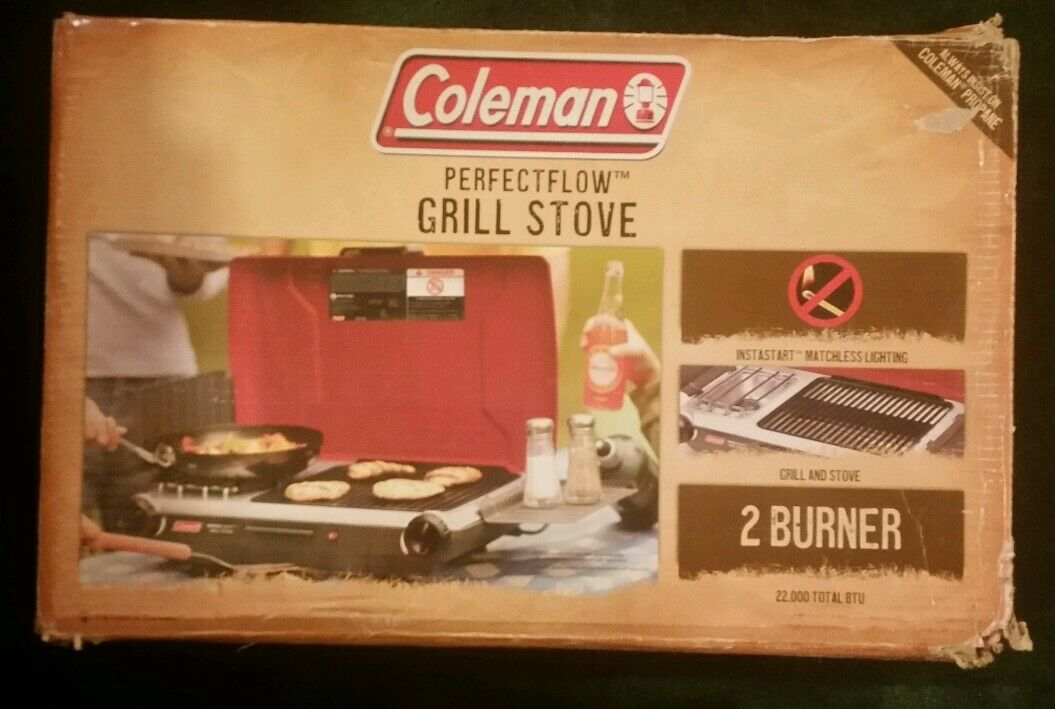 Coleman PerfectFlow Grill Stove 2 Burner