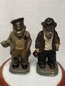 Vintage-Hollow-Chalkware-HOBO-Figurines-Folk-Art-Hand-Painted-5-034-Tall