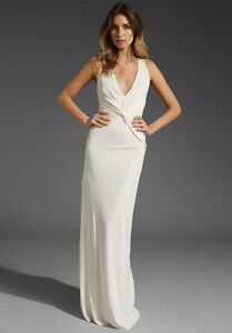 6f1d2e2ea19c3 Image is loading NWT-HALSTON-HERITAGE-Twist-Front-Long-Gown-Bridal-