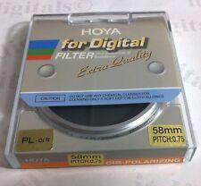 Genuine Hoya Digital 58mm Circular Polarizing CPL CIR-PL Lens Filter 58 mm PL