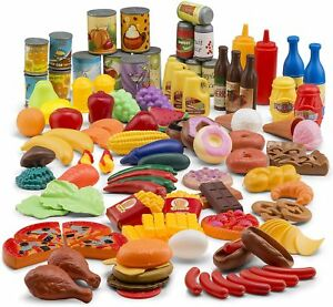 Jaxojoy 122 Piece Deluxe Pretend Play Food Set Beautiful Toy Assortment 650270950811 Ebay