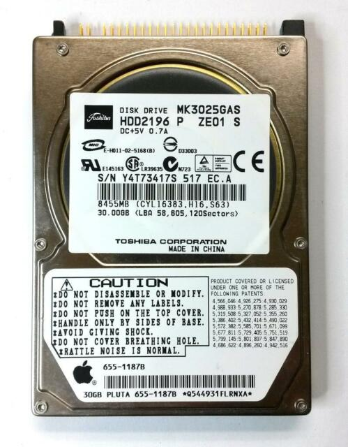 "2.5"" HDD Toshiba MK3025GAS 30GB PATA (Apple firmware)"