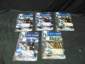 5-Star-Trek-First-Contact-Action-Figures-NIB-Riker-Troi-Data-Crusher-Worf