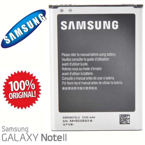 Batteria EB595675LU per Samsung Galaxy Note 2 II N7100 3100mAh bulk nuova n7100