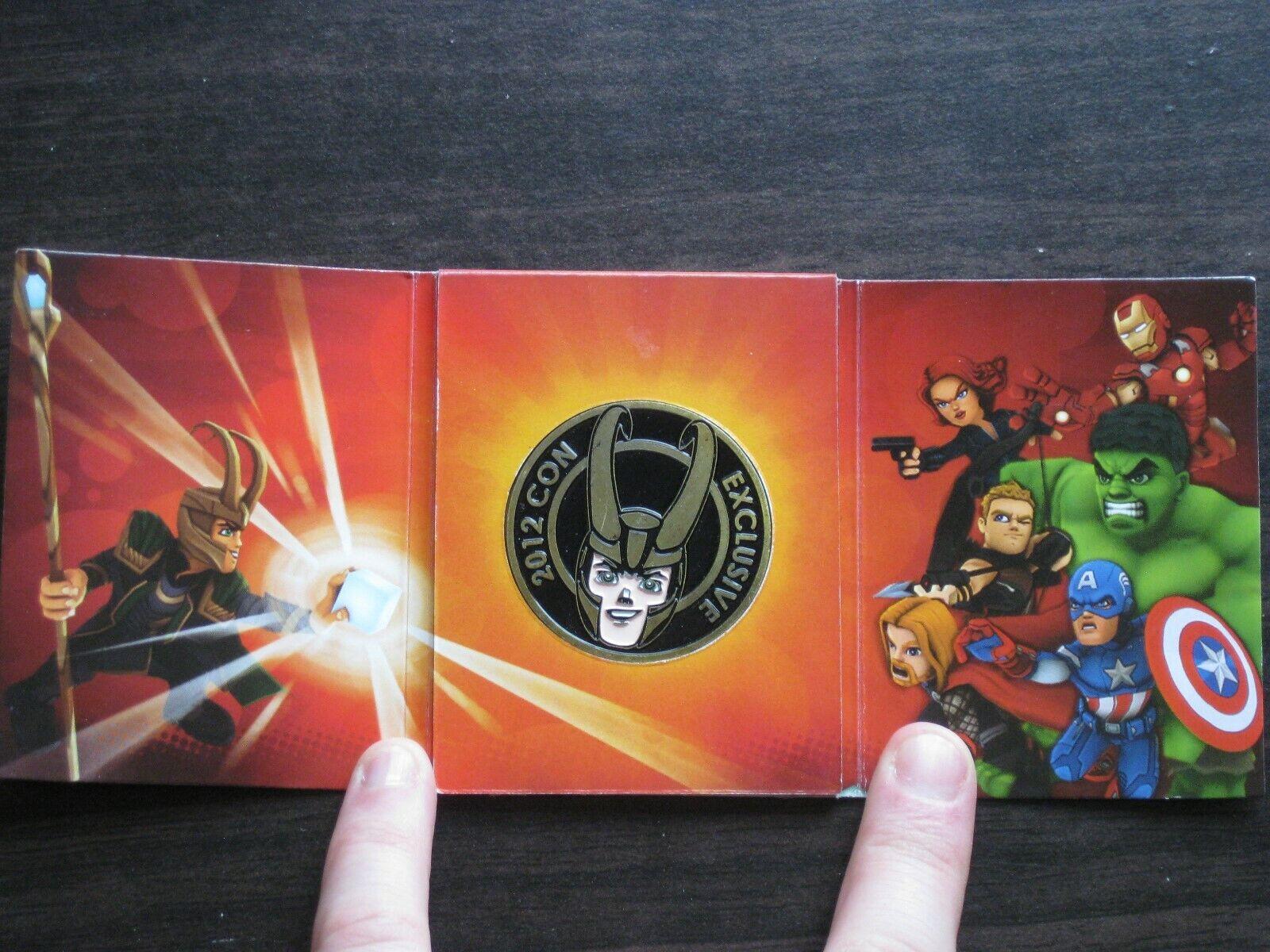 Marvel Super Hero Squad Loki 2012 San Diego comiccon esclusivo Avengers MONETA DA COLLEZIONE RARA