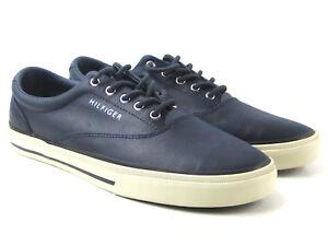 ccd56e62e NEW Tommy Hilfiger Mens Sneaker Navy Blue White Lace Sz 9.5 Shoes ...