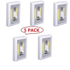 Details about 5X LED Switch Lights Battery Operated Cordless Super Bright  COB LED Wireless