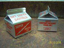 Vintage Super Motor Oil Milk Carton Piggy Bank Advertising Promo Gas Oil Iowa A